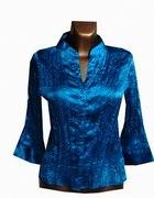 Elegancka Niebieska Bluzka M L