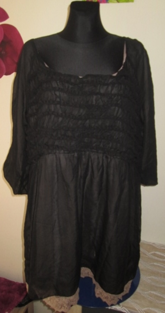 Czarna sukienka z koronką w roz 52 okazja