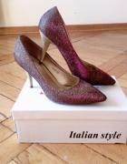 srebrne szplki buty dla księżniczki sylwestrowe