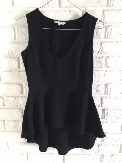 Czarna bluzka z baskinka New Look S...