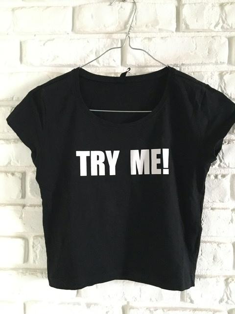 Tshirt Sinsay Try Me S...