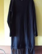 dresowa sukienka z tiulem...