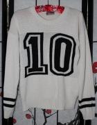sweter krótki beżowy modny bluzka beż...