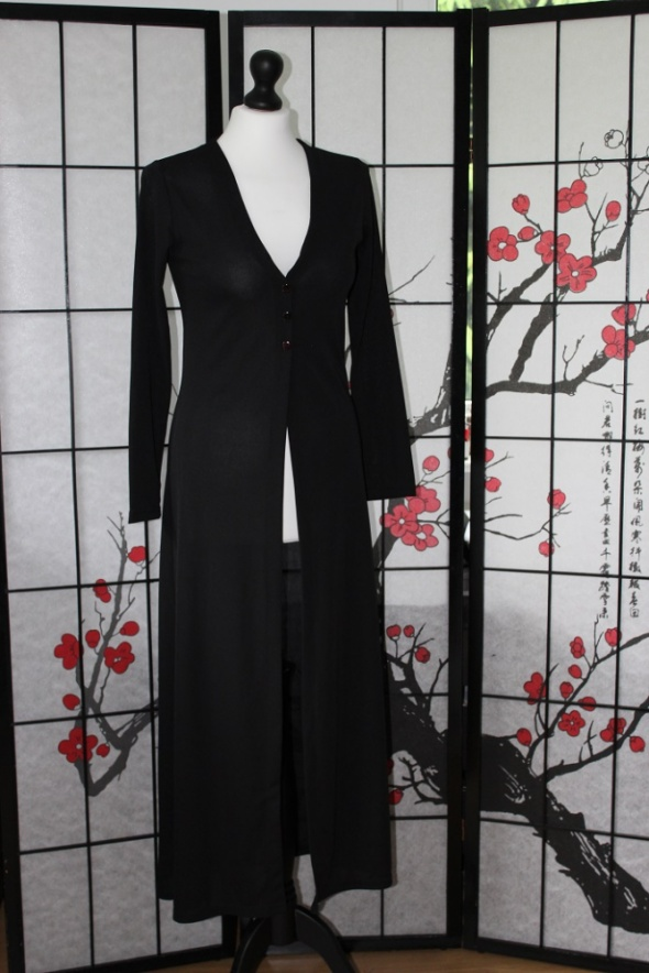 SUKIENKA suknia długa maxi czarna tuba tunika narzutka sweter
