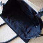 Biała czarna torba Atmosphere kuferek torebka