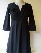 Sukienka Czarna H&M S 36 Elegancka Letnia Rozkloszowana