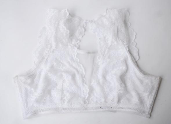Biustonosze Stanik Koronkowy Cubus M 38 Biały Bralette Sexy