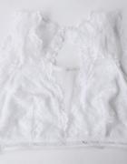 Stanik Koronkowy Cubus M 38 Biały Bralette Sexy...