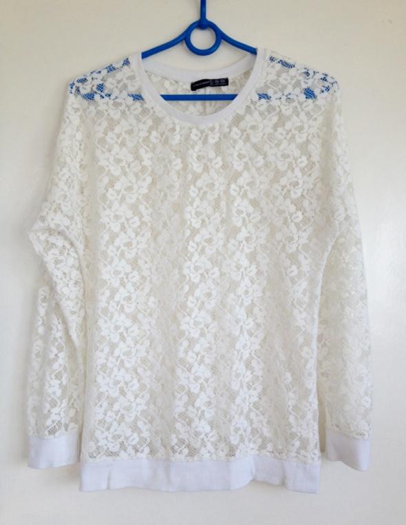 Bluzy Koronkowa bluza biała kremowa XS S M 34 36 38 nowa Atmosphere