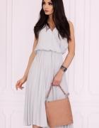 Różowa sukienka midi plisowana SM LXL 2XL KOLORY...