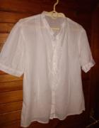 Biała bawełniana bluzka z haftem roz 40