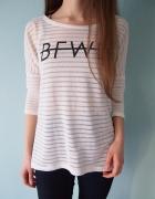 Biały sweterek H&M 36 S oversize sweter cienki...