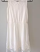 Biała koronkowa sukieneczka 10 12 lat...