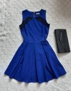 Sukienka impreza urodziny wesele chabrowa kobaltowa...