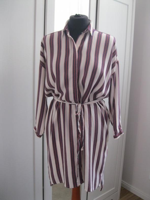 sukienka TOPSHOP 36 paski koszulowa