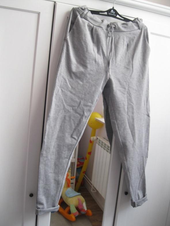 spodnie luźne PAGE S M melanż