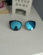 Okulary przeciwsłoneczne kocie oko lustrzanki...