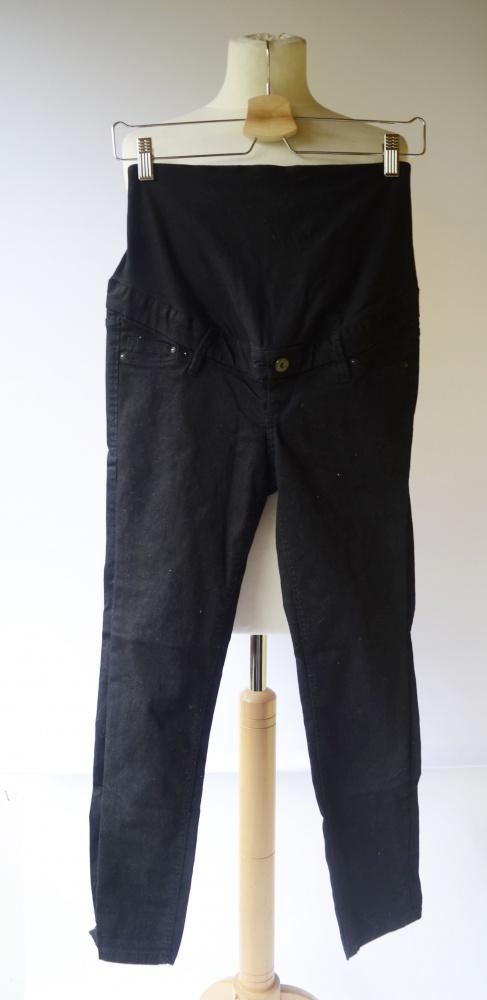 Spodenki Spodenki Rybaczki H&M Mama XS 34 Czarne Spodnie Ciążowe