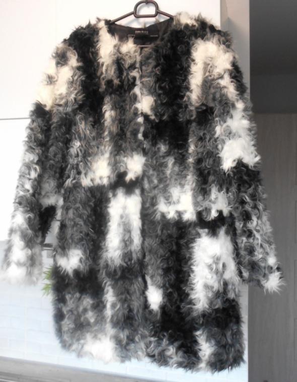 Zara futro futerko płaszcz...