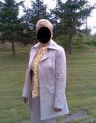 Płaszcz srebrny wiosna jesień 40 L...