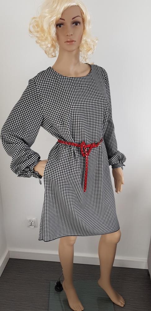 Czarno biała sukienka H&M pepitka...
