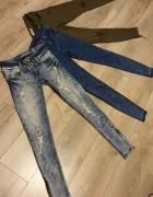 PAKA 34 XS spodnie Bershka Telly Weijl jeansowe przecierane...