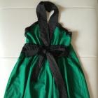 Zielona Sukienka Z Kokardką S 36 XS 34 JAPAN STYLE