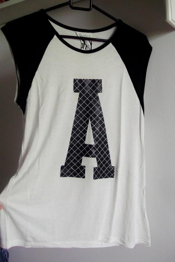 czarno biała bluzeczka Sinsay M
