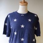 Bluzka T Shirt H&M Divided M 38 Granat Gwiazdki Koszulka