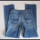 Spodnie jeansowe jeansy prosta nogawka M L