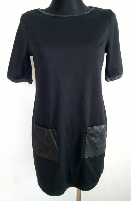 Dorothy Perkins czarna sukienka trapezowa S...