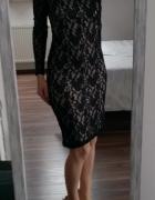 George koronkowa sukienka czarna M L