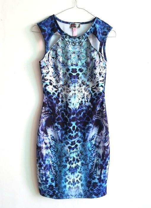 Lipsy sukienka bodycon niebieska S M...