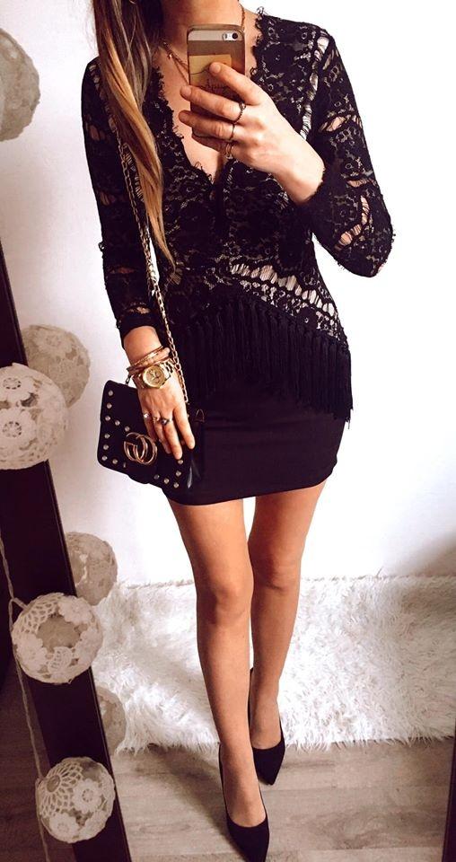 Sukienka Damska elegancka koronka S