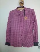 Różowa koszula z haftem