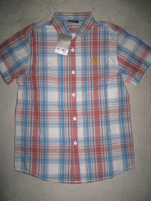 NEXT koszula chłopięca w kratkę z krótkim rękawem roz 134