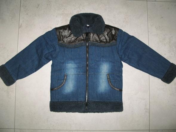 MUST HAVE jeansowa zimowa kurtka chłopięca roz 128