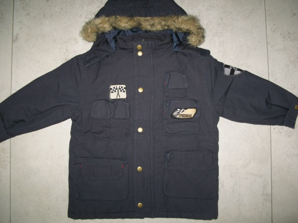 MUST HAVE granatowa zimowa kurtka chłopięca Speedrail roz 104