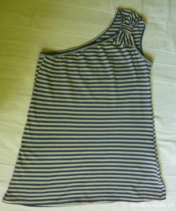 Bluzka na jedno ramię w paski ZARA M