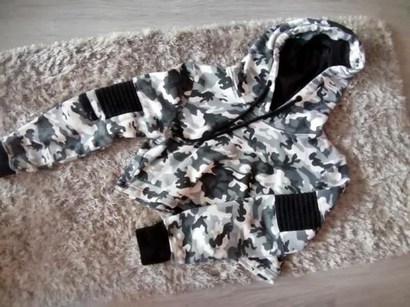 Bluza crop top moro Elly Pistol S wojskowa modna