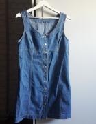 Jeansowa sukienka bez rękawów M i L...