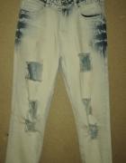 Chillin Jeansy boyfriendy z dziurami mom jeans 36...