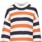 Dzianina sweter w paski rozmiar 48