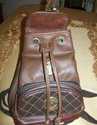 brązowy plecaczek