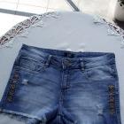 Krótkie spodenki szorty damskie jeansowe F&F 36 S