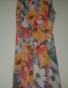 Sukienka w kwiaty krótki przód długi tył...