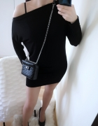 Sukienka damska nietoperek czarna uniwersalna...