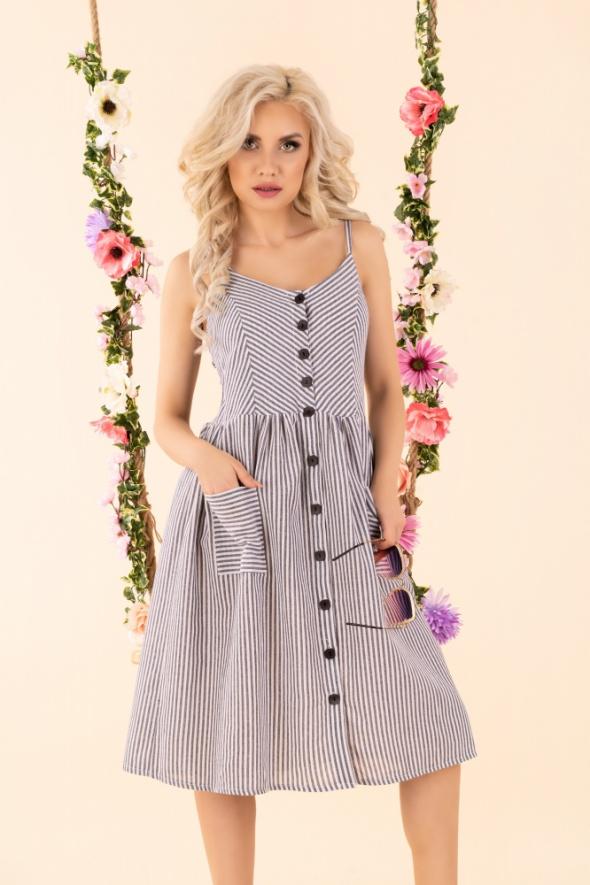 Śliczna szara sukienka ramiączka S M L XL Kolory mięta różowa