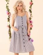 Śliczna szara sukienka ramiączka S M L XL Kolory mięta różowa...