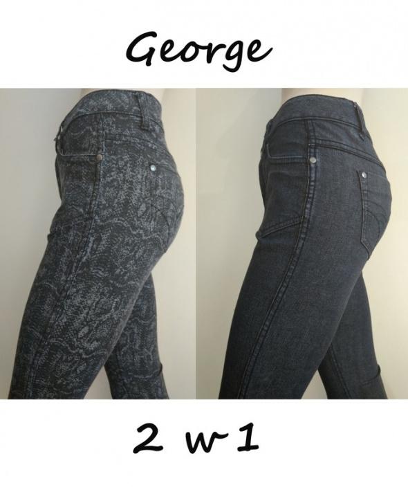 Nowe spodnie jeansy damskie 2 pary w 1 George 36 S...